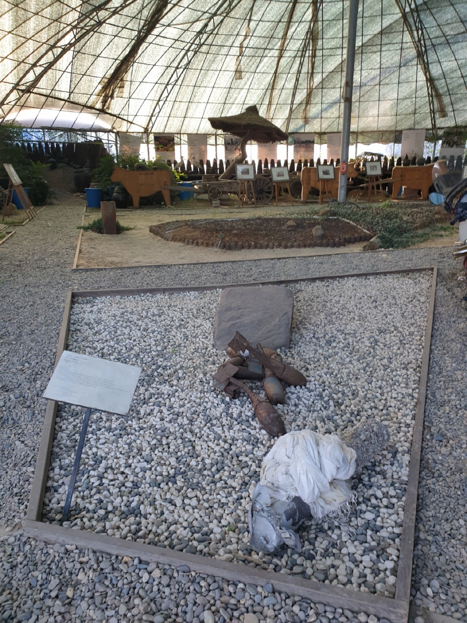 매향리 역사박물관 내부.